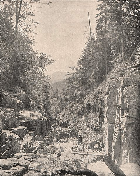 Associate Product Flume Gorge, Franconia Notch State Park, White Mountains, New Hampshire 1895