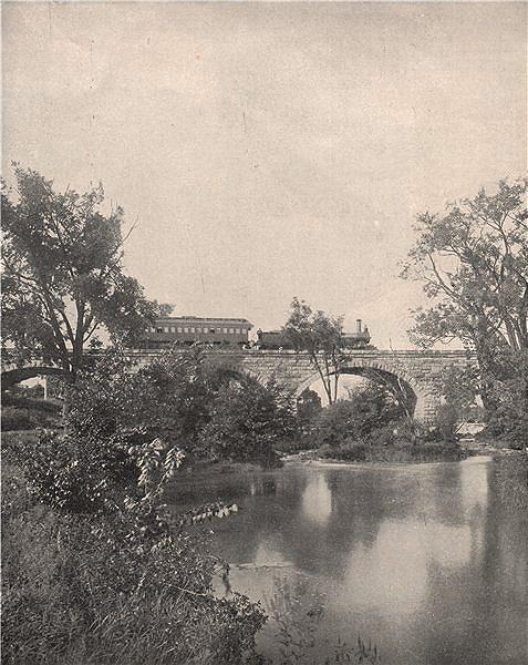 Associate Product Pennslyvania Railroad bridge over Mill Creek nr Juniata River, Pennsylvania 1895