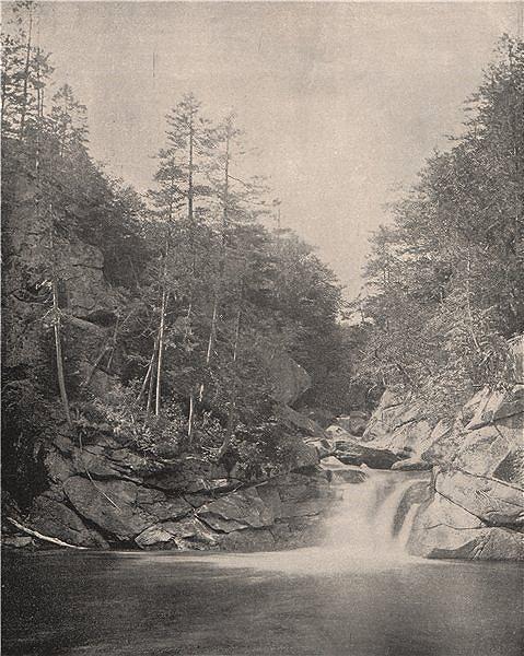 Associate Product The Basin Pemigewasset River Franconia Notch White Mountains New Hampshire 1895
