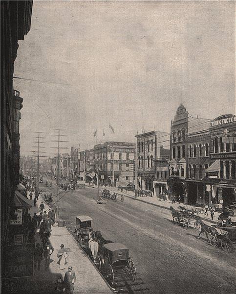 Associate Product Washington Avenue, Minneapolis, Minnesota 1895 old antique print picture