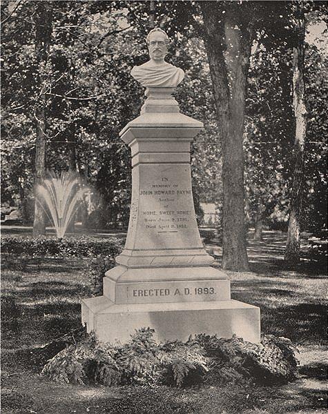 Associate Product Tomb of J. Howard Payne, Georgetown, Washington DC 1895 old antique print