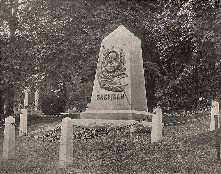 Associate Product General Philip Sheridan's tomb, Arlington National Cemetery, Virginia 1895