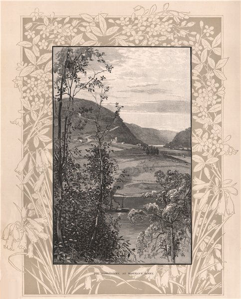 The Hawkesbury, at WISEMAN'S FERRY. New South Wales. Australia 1888 old print