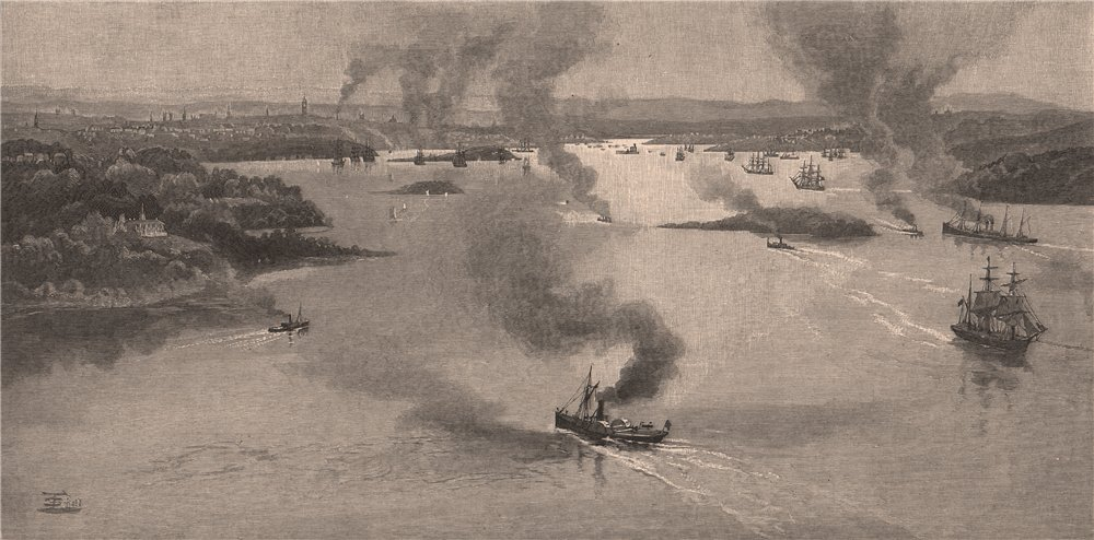 Associate Product SYDNEY HARBOUR from Shark Point. New South Wales. Australia 1888 old print