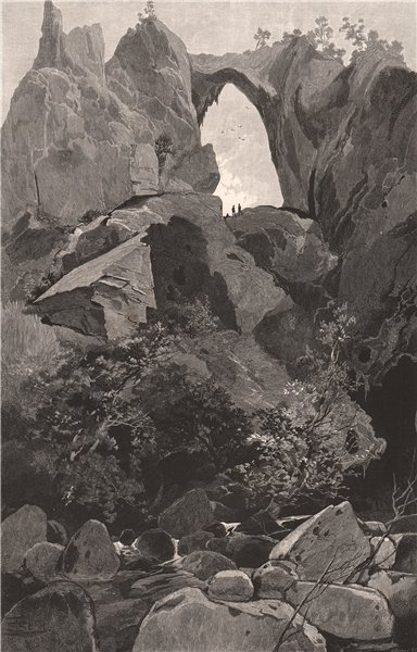 Associate Product Carlotta Arch. JENOLAN CAVES. Blue Mountains. Australia 1888 old antique print