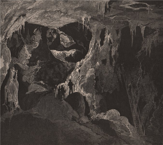 Associate Product The Arch Cave, Looking North. JENOLAN CAVES. Australia 1888 old antique print