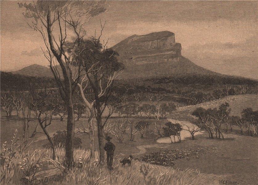 Associate Product MOUNT ABRUPT. Victoria, Australia 1888 old antique vintage print picture