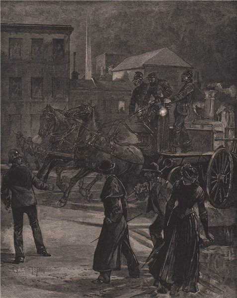Associate Product A night alarm. MELBOURNE. Australia 1888 old antique vintage print picture