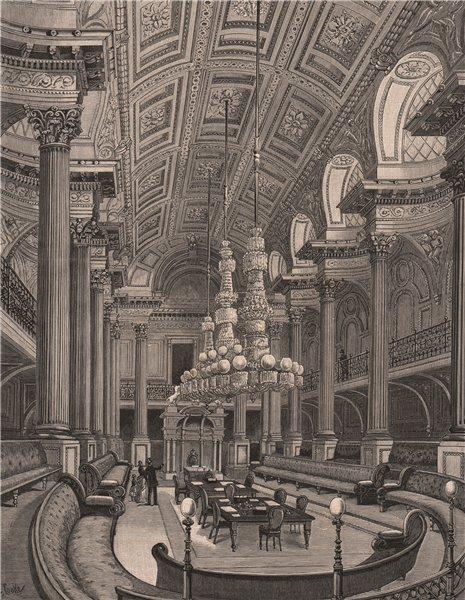 Associate Product The Legislative Council Chamber. MELBOURNE. Australia 1888 old antique print