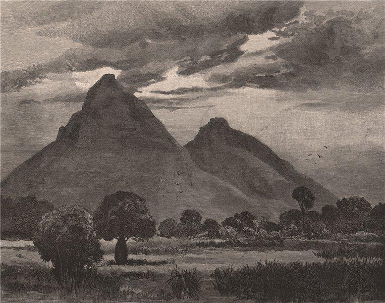 Associate Product SCOTT'S PEAK & ROPER'S PEAK, Queensland. Australia 1888 old antique print