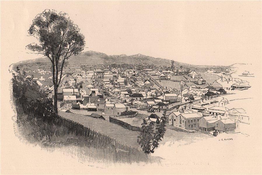 Associate Product GYMPIE. Queensland. Australia 1888 old antique vintage print picture