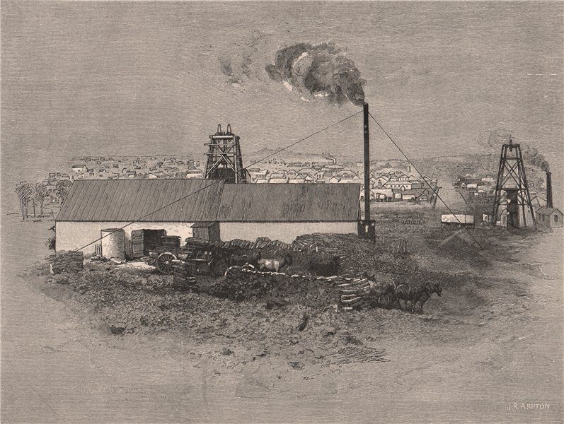 Associate Product CHARTERS TOWERS, from the DAY DAWN CLAIM. Queensland. Australia 1888 old print