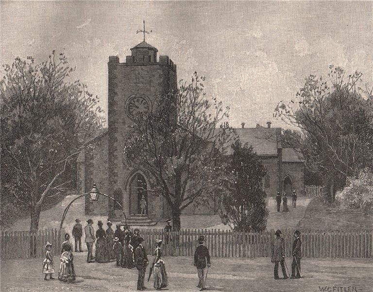 Associate Product Trinity Church, North Terrace. ADELAIDE. Australia 1888 old antique print