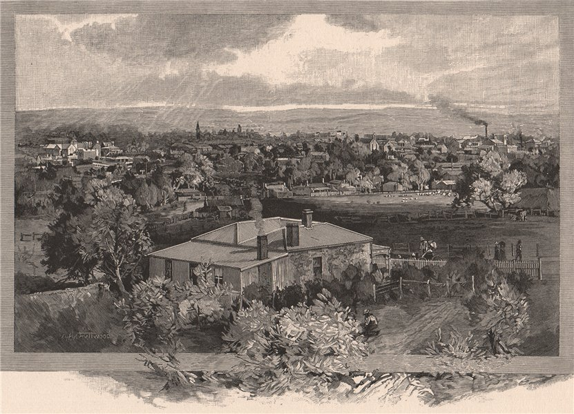 Associate Product KAPUNDA, from Brewster's Hill. South Australia 1888 old antique print picture