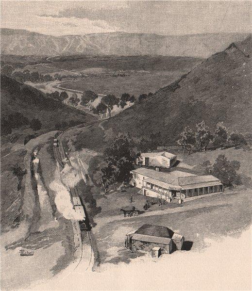 Associate Product Saltia, PICHI RICHI Pass. South Australia 1888 old antique print picture