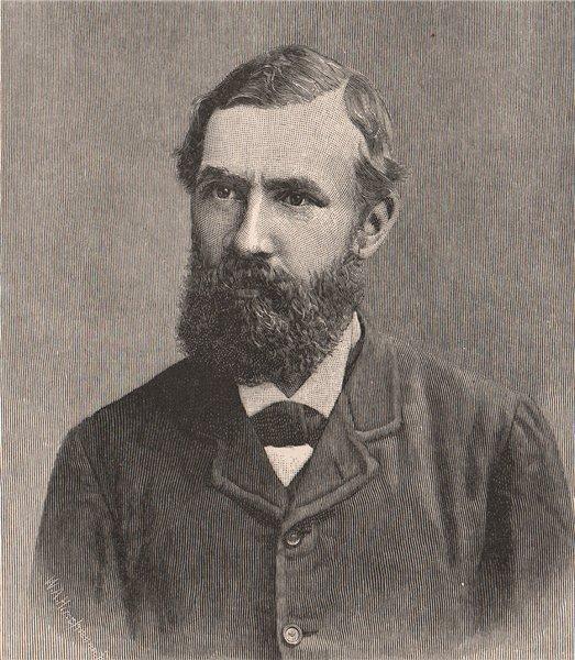 Associate Product Sir Robert G.C. Hamilton. Tasmania. Australia 1888 old antique print picture
