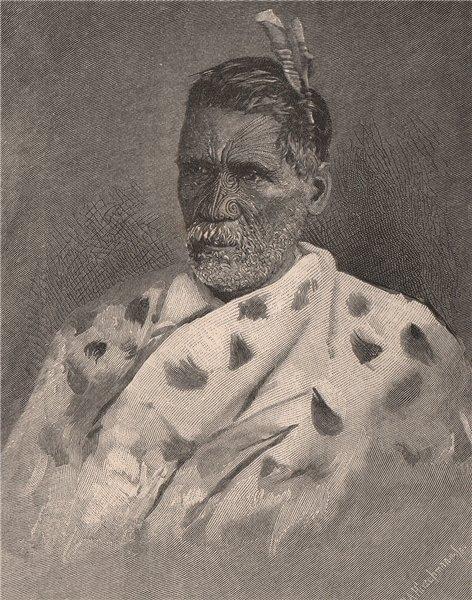 Associate Product Rewi Mani Poto. New Zealand 1888 old antique vintage print picture