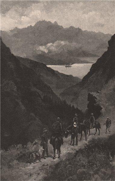 Associate Product Ascent of Ben Lomond. New Zealand 1888 old antique vintage print picture