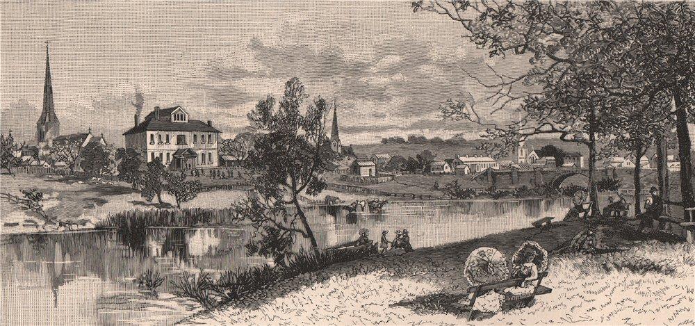 Associate Product King's School, PARRAMATTA. New South Wales. Australia 1888 old antique print