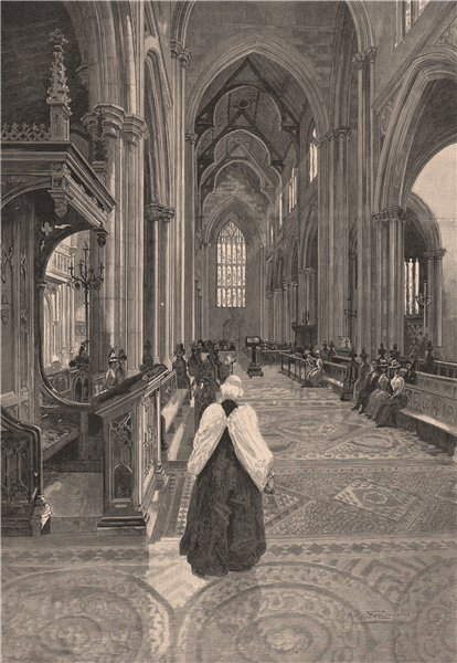 Associate Product Interior of St. Andrew's Cathedral, SYDNEY. New South Wales. Australia 1888