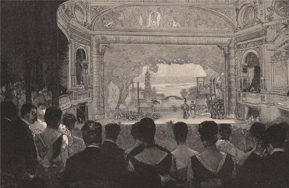Associate Product Interior of Princess Theatre, MELBOURNE. Victoria, Australia 1888 old print