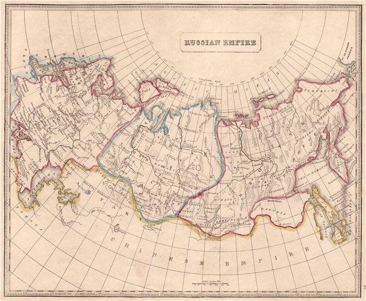 Details about RUSSIAN EMPIRE. In Europe. Siberia. Tobolsk. Irkoutsk. OOC.  JOHNSON 1850 map