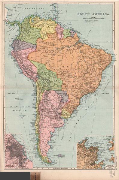Associate Product SOUTH AMERICA. Buenos Aires Rio de Janeiro. Bolivia < Chaco War. BACON 1903 map
