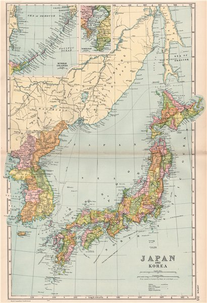 Associate Product JAPAN & KOREA. Railways & steam routes. Inset Tokyo bay. BACON 1903 old map