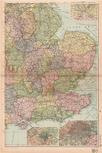 S E England Map.England South East Midlands Sheffield Birmingham London Railways