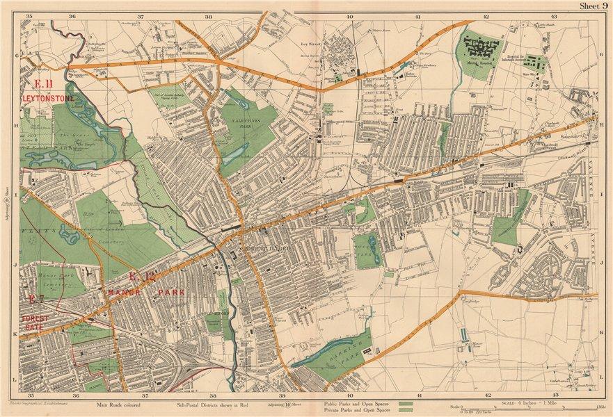 Associate Product ILFORD Barking Wanstead Flats Goodmayes Newbury Park Becontree. BACON 1927 map