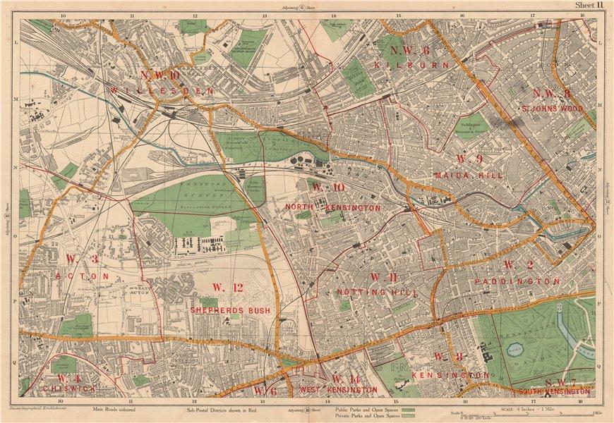 South Kensington London Map.W London Kilburn Bayswater Maida Vale Notting Hill Shepherds Bush