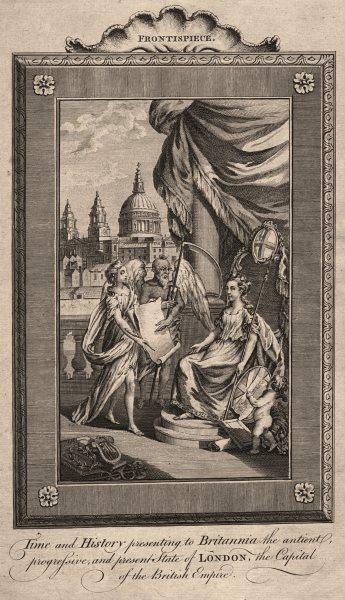 Time & History presenting London's condition to Britannia. HARRISON Frontis 1775