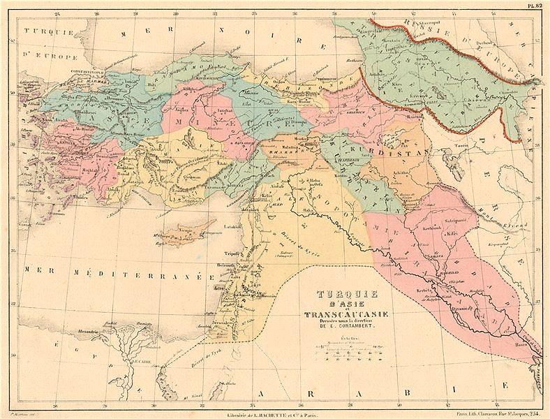 Associate Product TURKEY IN ASIA. Transcaucasia. Mesopotamia Syria Levant Iraq Cyprus 1880 map