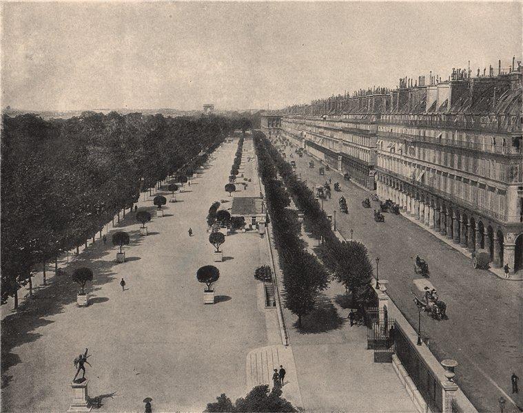 Associate Product PARIS. The Rue de Rivoli, with the Bois de Boulogne on the left. Paris 1895