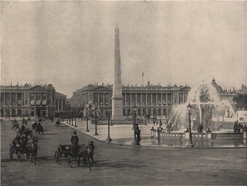 Associate Product PARIS. The Place de La Concorde. Paris 1895 old antique vintage print picture