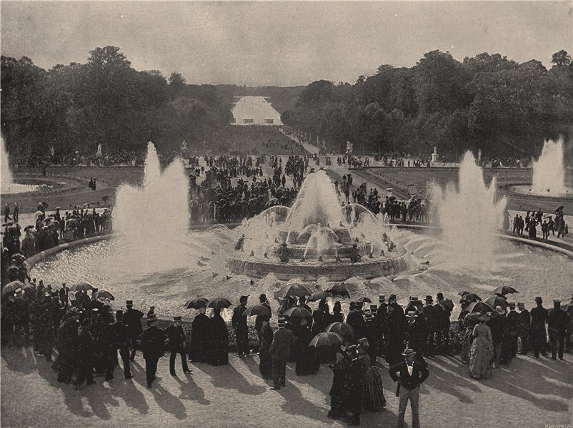 Associate Product VERSAILLES. The fountains in the gardens of the palace. Yvelines 1895 print