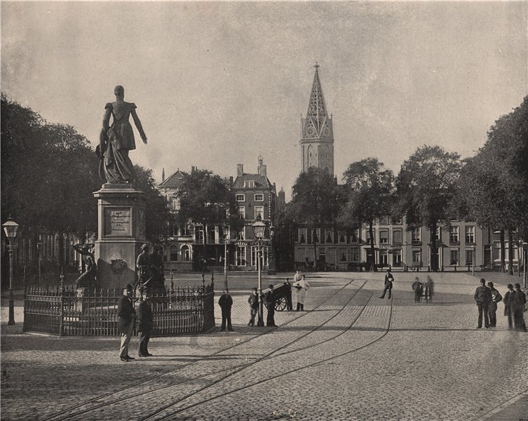 DEN HAAG THE HAGUE. View of the Vijverberg Square. Netherlands 1895 old print