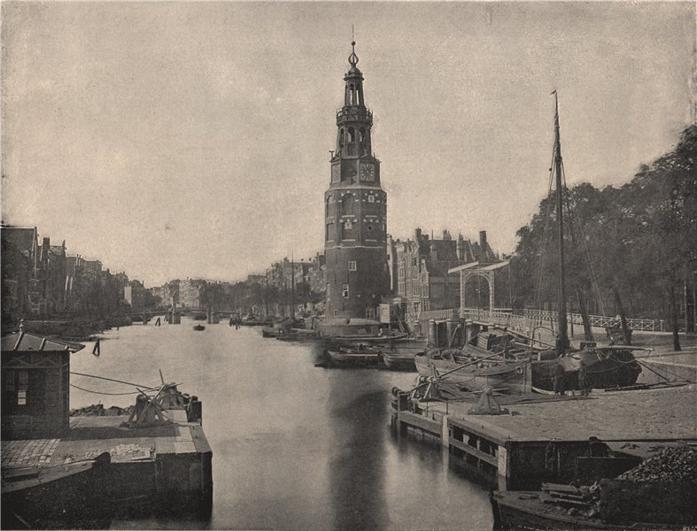 Associate Product AMSTERDAM. The Montelbaanstoren. Amsterdam 1895 old antique print picture