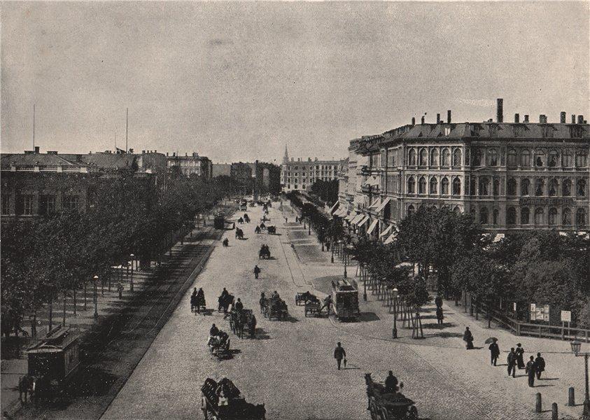 Associate Product COPENHAGEN. The Vesterbro' passage. Denmark 1895 old antique print picture