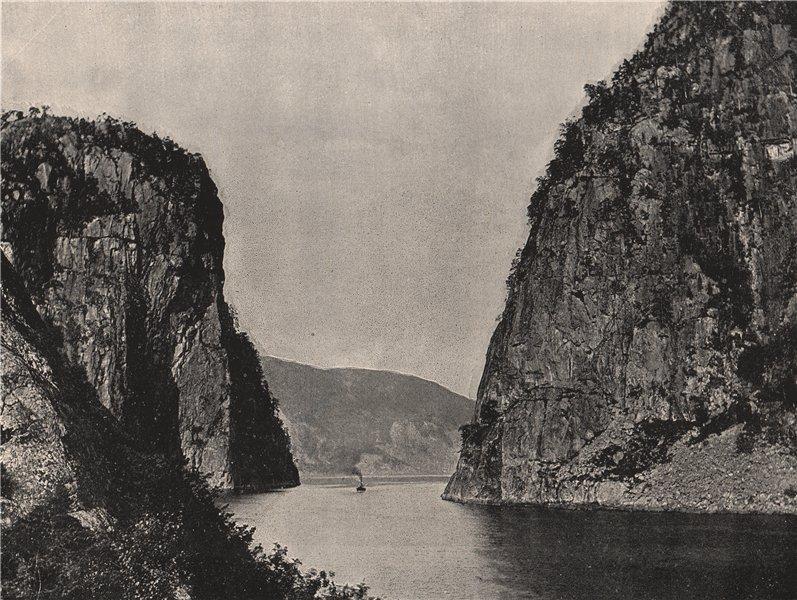 Associate Product SULDAL. The Suldal gate (Suldalsporten) Suldal Lake. Norway 1895 old print