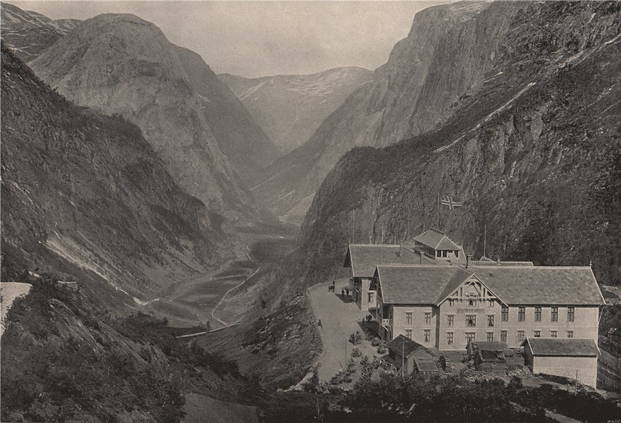 Associate Product STALHEIM. The Naerödal Valley and Stalheim Hotel. Norway 1895 old print
