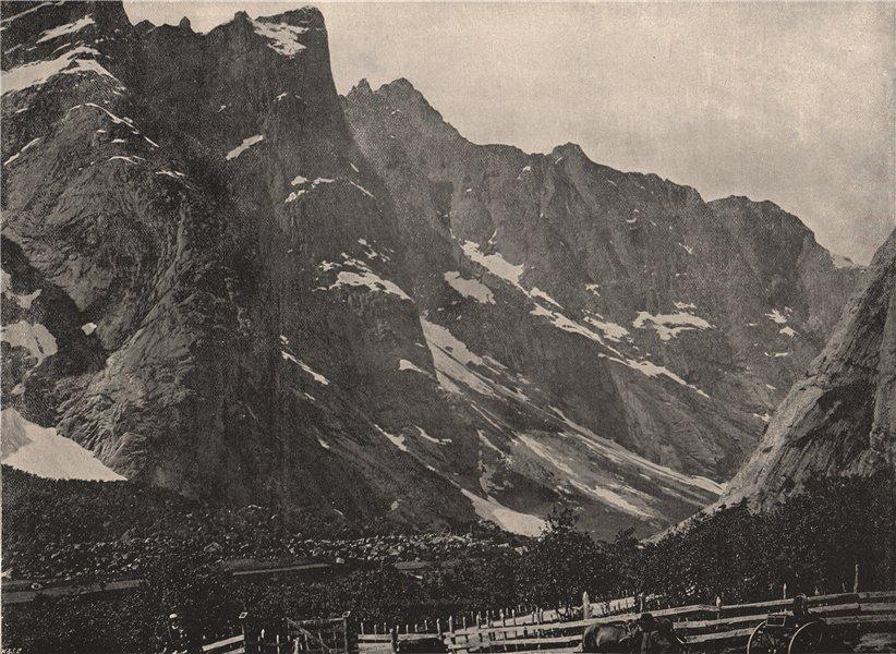 Associate Product HORHEIM. The Troldtinderne peaks, Horheim. Norway 1895 antique print