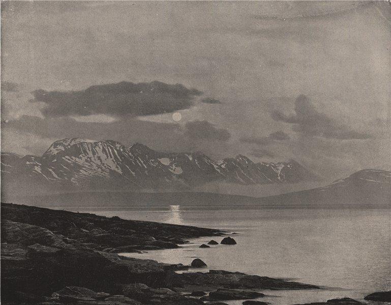 Associate Product TROMSO. The midnight sun on the Arctic Ocean. Arctic 1895 old antique print