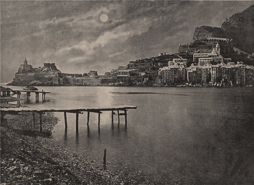 Associate Product LA SPEZIA. View from the bay. Italy 1895 old antique vintage print picture