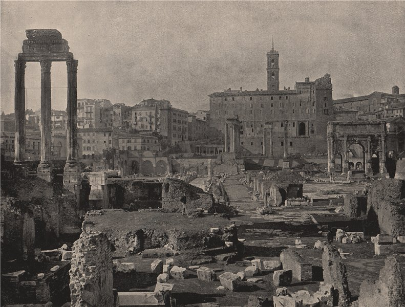 Associate Product ROME. General view of the Forum. Rome 1895 old antique vintage print picture