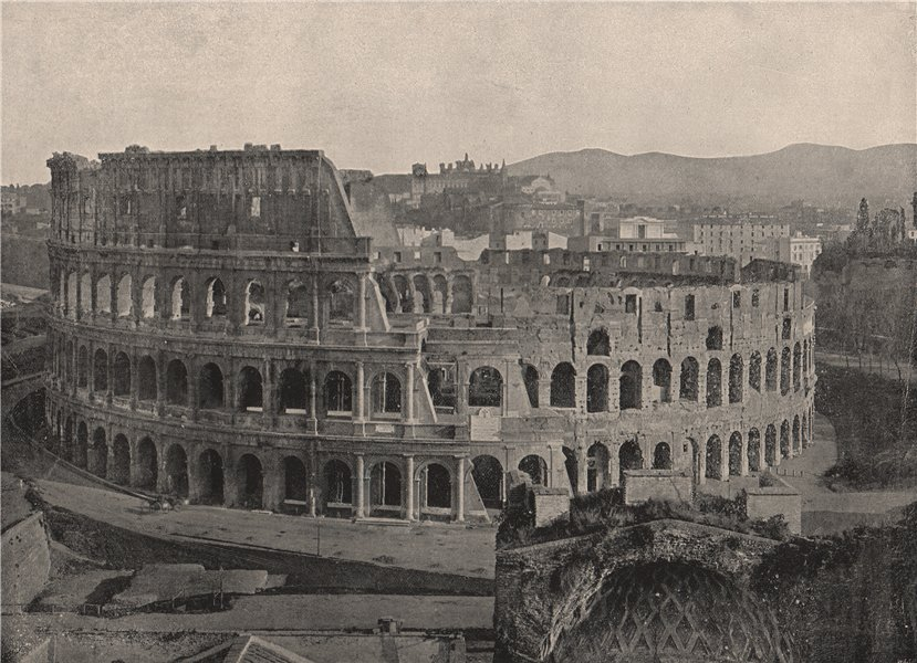 Associate Product ROME. The Colosseum. Rome 1895 old antique vintage print picture