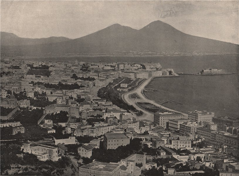 Associate Product NAPLES. The city, the bay, and Vesuvius. Italy 1895 old antique print picture