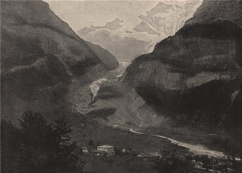 Associate Product GRINDELWALD. The Grindelwald Valley. Switzerland 1895 old antique print