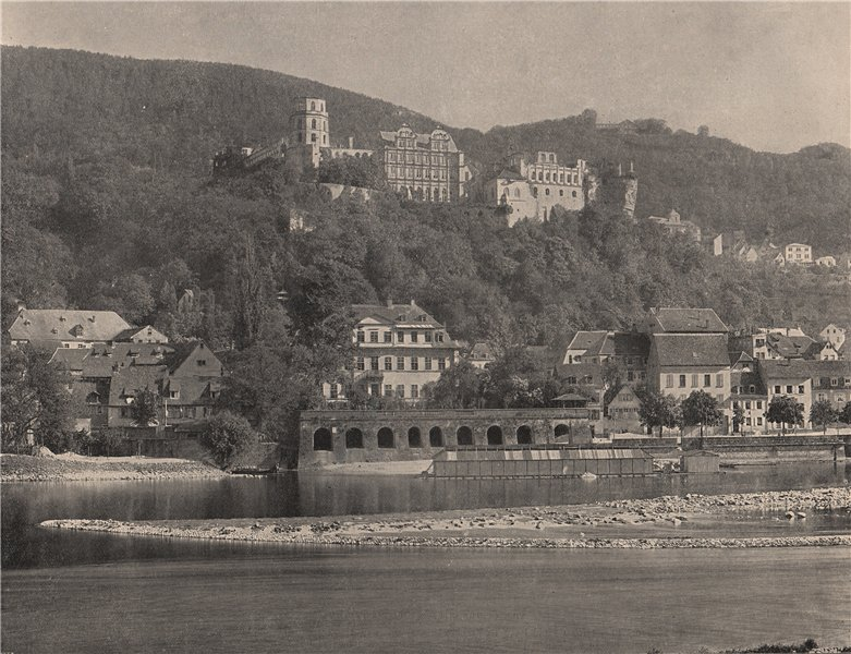 Associate Product HEIDELBERG. the castle of Heidelberg. Germany 1895 old antique print picture