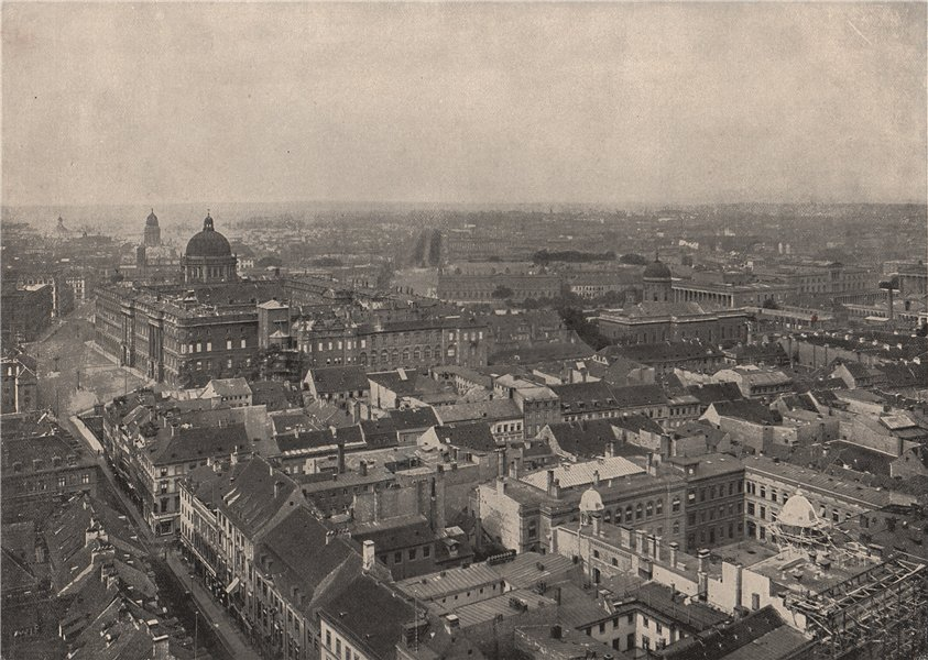 Associate Product BERLIN. Panorama of the city. Germany 1895 old antique vintage print picture